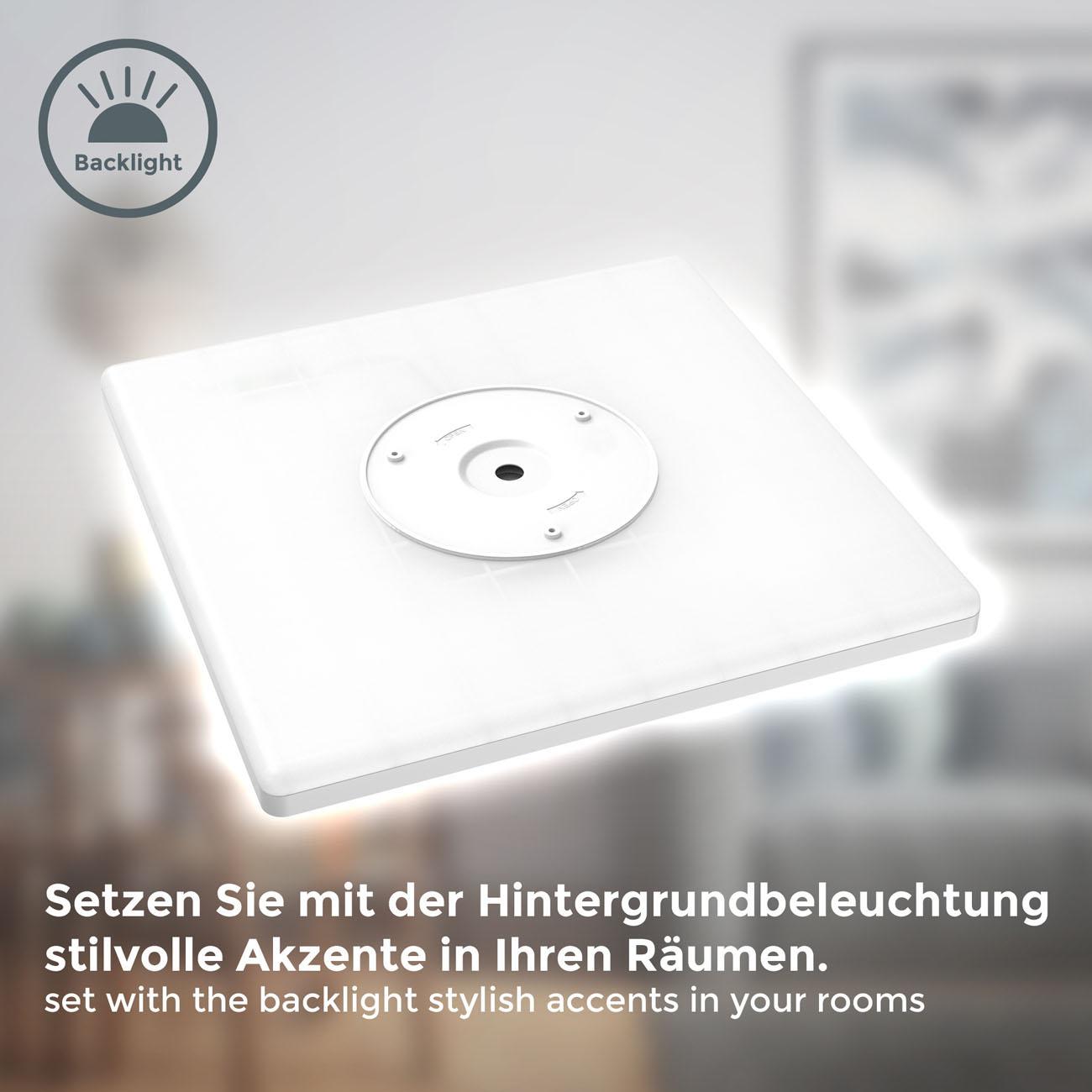 LED Panel mit Backlight-Effekt ultra-flach weiß XL - 4