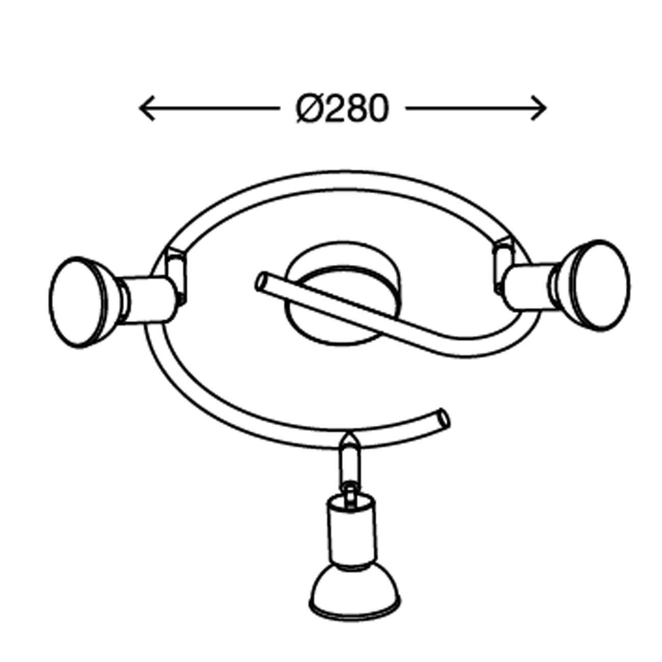 LED Deckenstrahler Deckenspot 3-flammig rund - 7