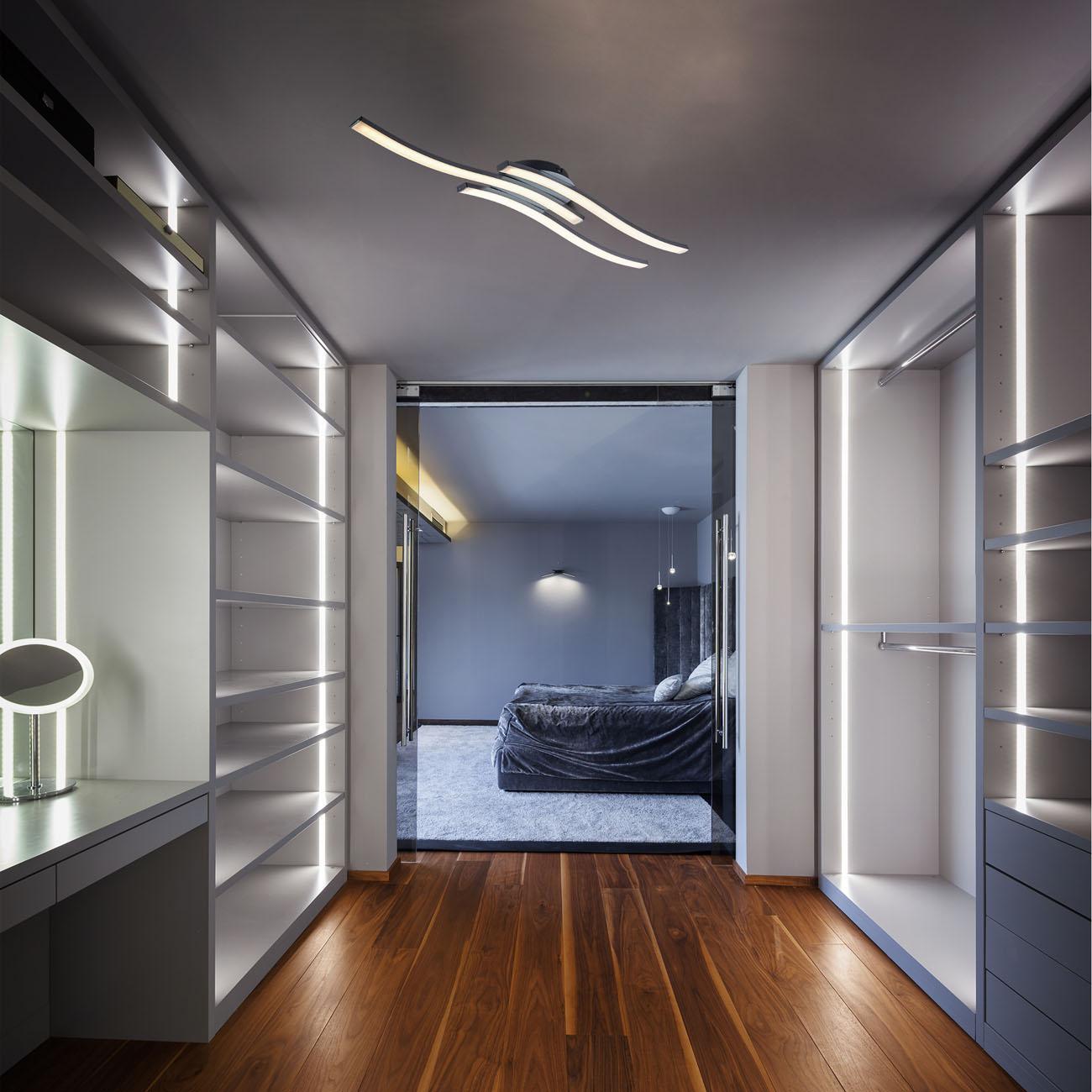 LED Design Deckenleuchte in Wellenform - 6