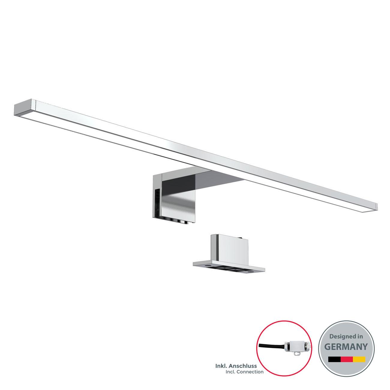 LED Spiegelleuchte Badlampe IP44 neutral-weiß M chrom - 3