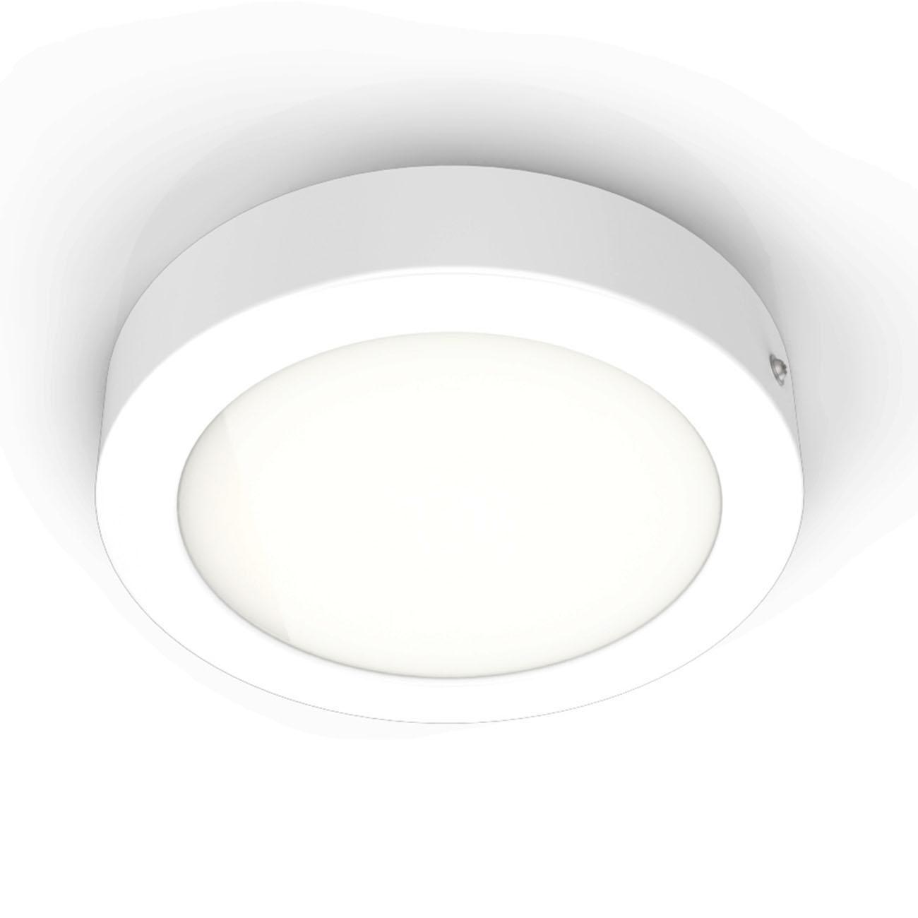 LED Aufbauleuchte Aufputzstrahler rund weiß