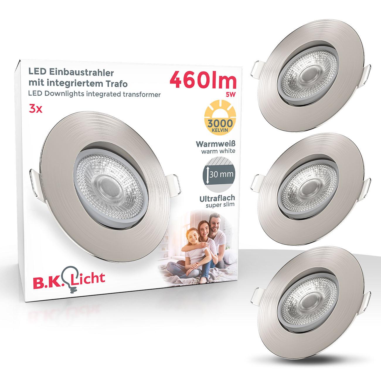 LED Einbaustrahler | Einbauleuchte 3er SET | ultra flach 5W schwenkbar