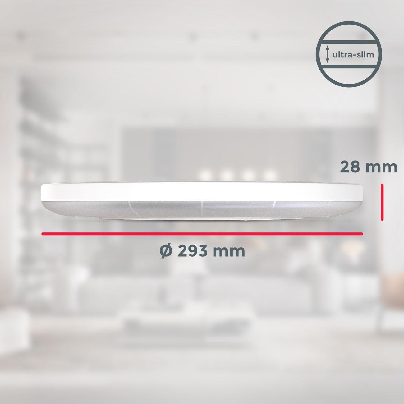 LED Panel mit Backlight-Effekt ultra-flach weiß rund  - 8