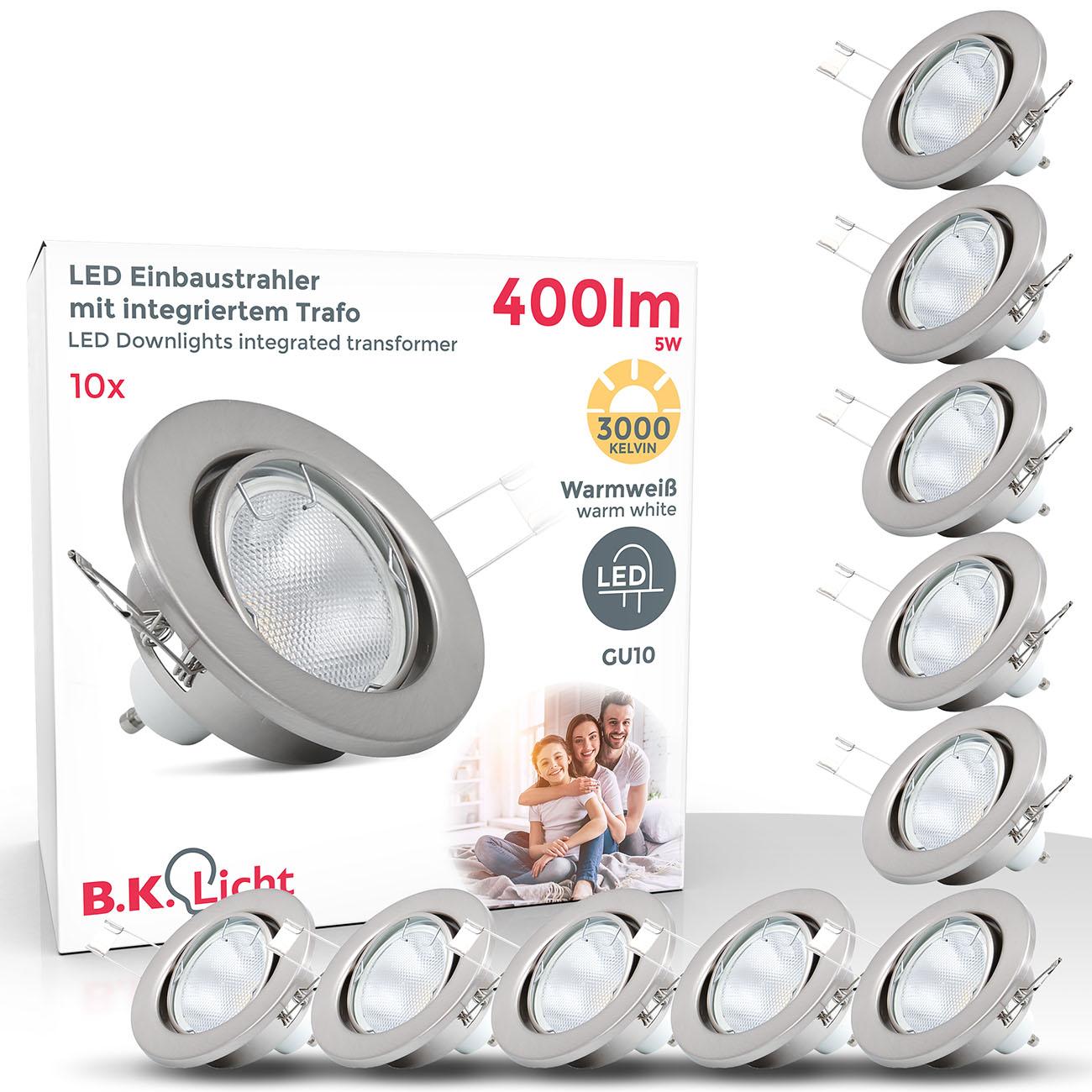 LED Einbaustrahler | Einbauleuchte 10er SET | ultra flach 5W inkl. GU10