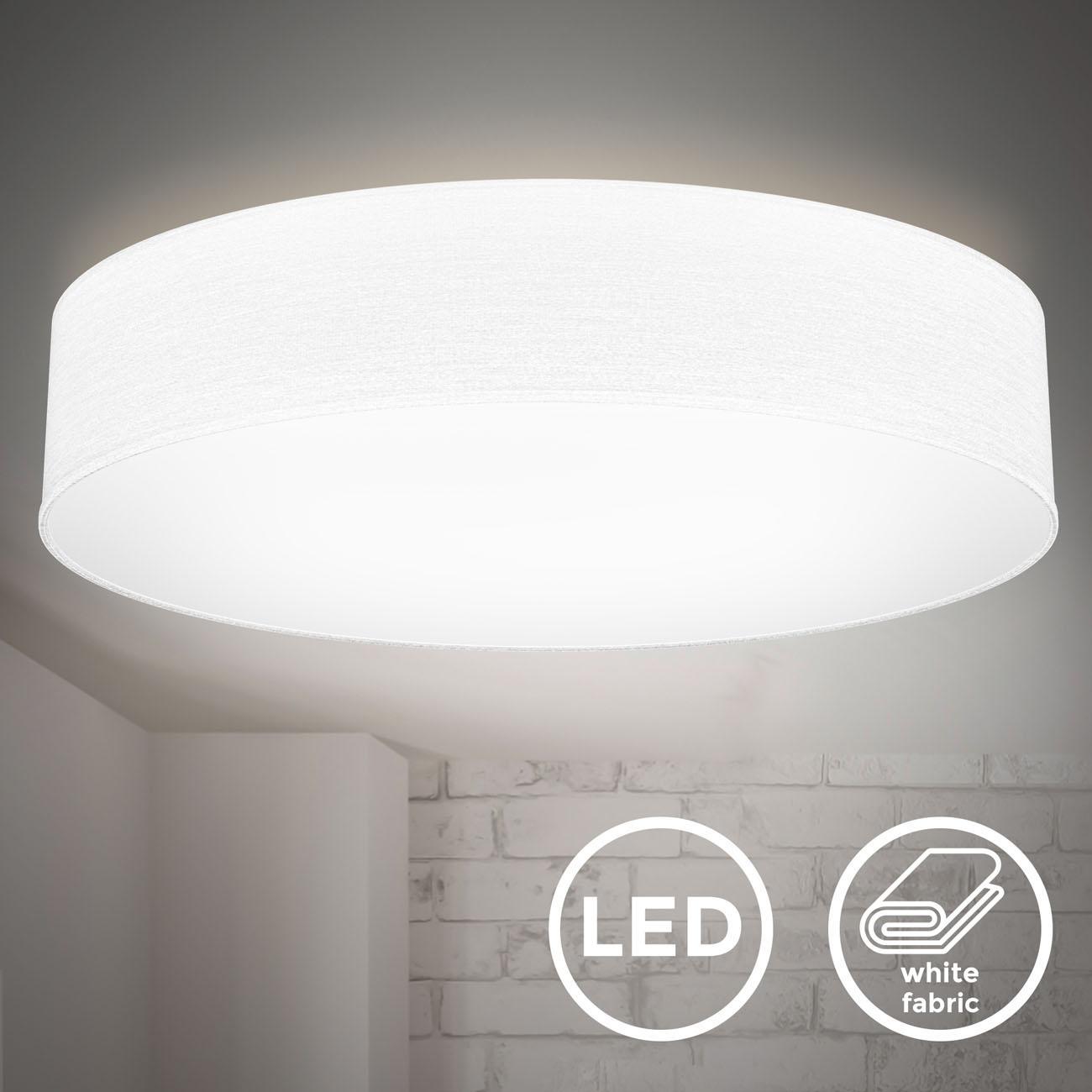 LED  Deckenleuchte mit Stoffschirm weiß - 3