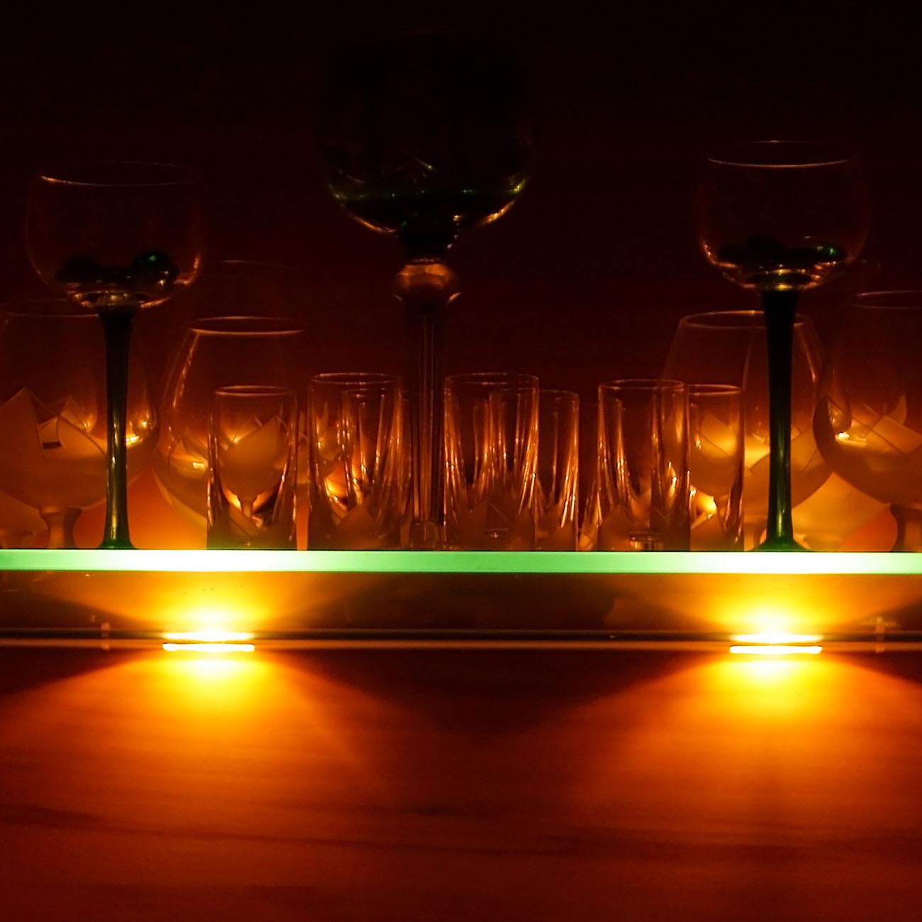Glas-Clips RGB Glasbodenbeleuchtung | 4er Set
