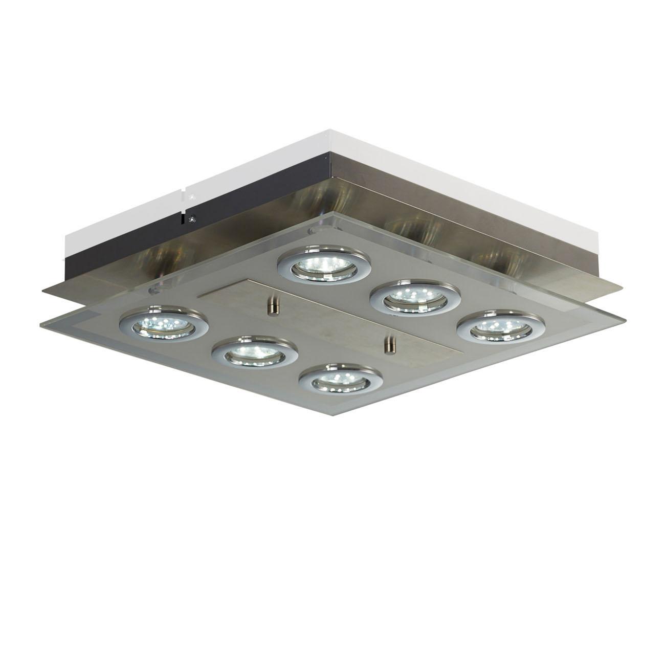 LED Deckenleuchte Glaslampe 6-flammig GU10