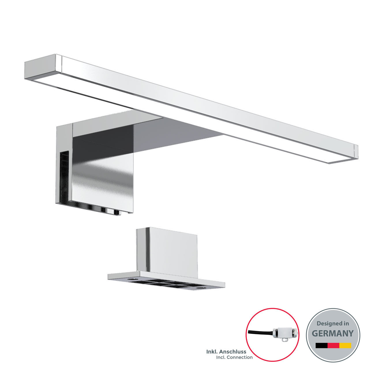 LED Spiegelleuchte Badlampe IP44 neutral-weiß S chrom - 3