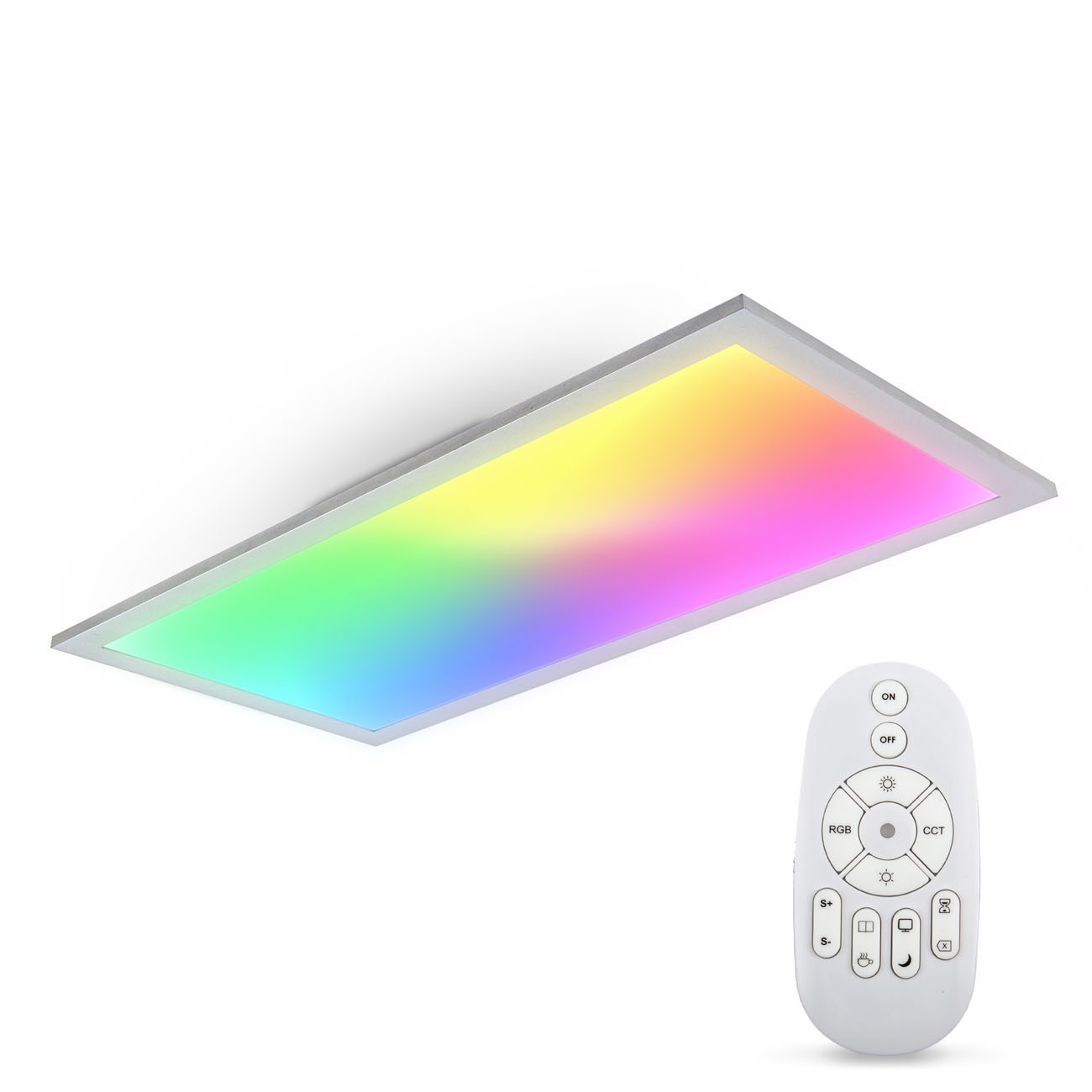 CCT RGB LED Panel Deckenleuchte dimmbar rechteckig