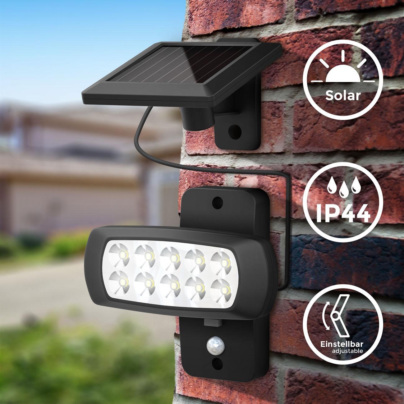LED Außenleuchte mit Sensor Solar schwarz - 3