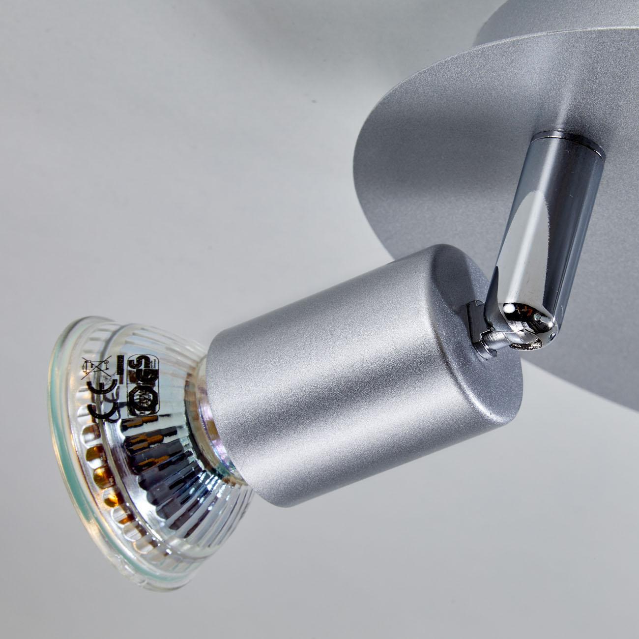 LED Deckenstrahler Deckenspot 3-flammig matt-nickel - 5