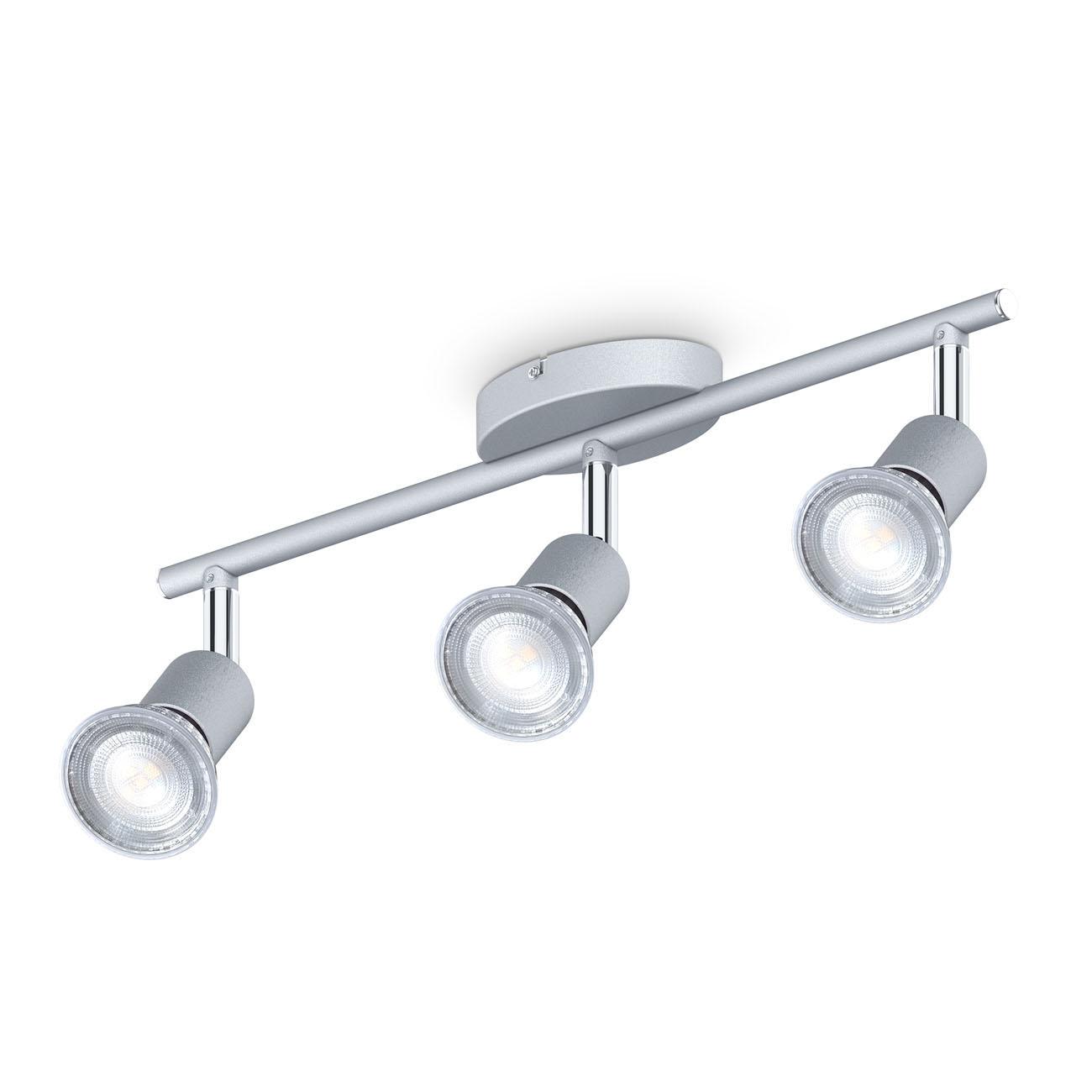 LED Deckenstrahler Spotleucht 3-flammig GU10 titan