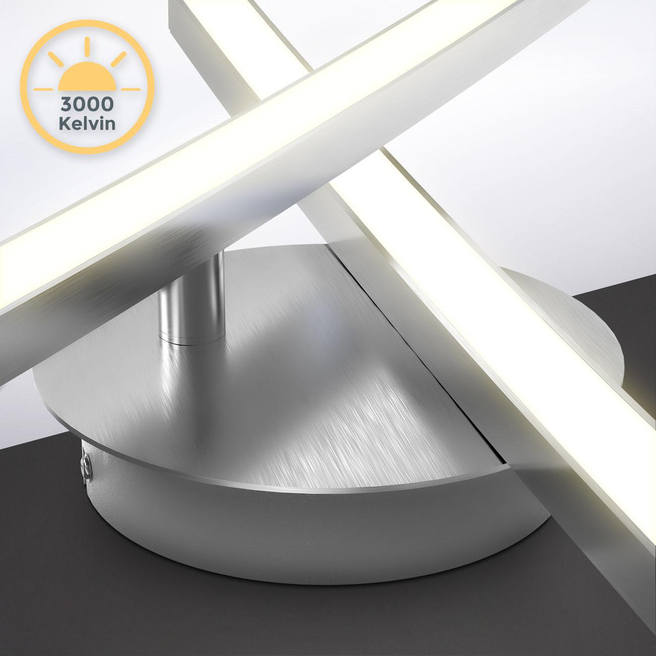 LED Deckenleuchte 2-flammig schwenkbare Leuchtmodule - 7
