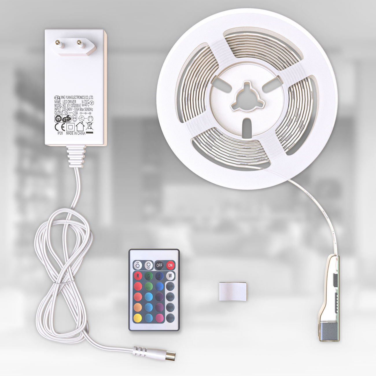 RGB LED Streifen mit Farbwechsel silikonbeschichtet 3m - 9