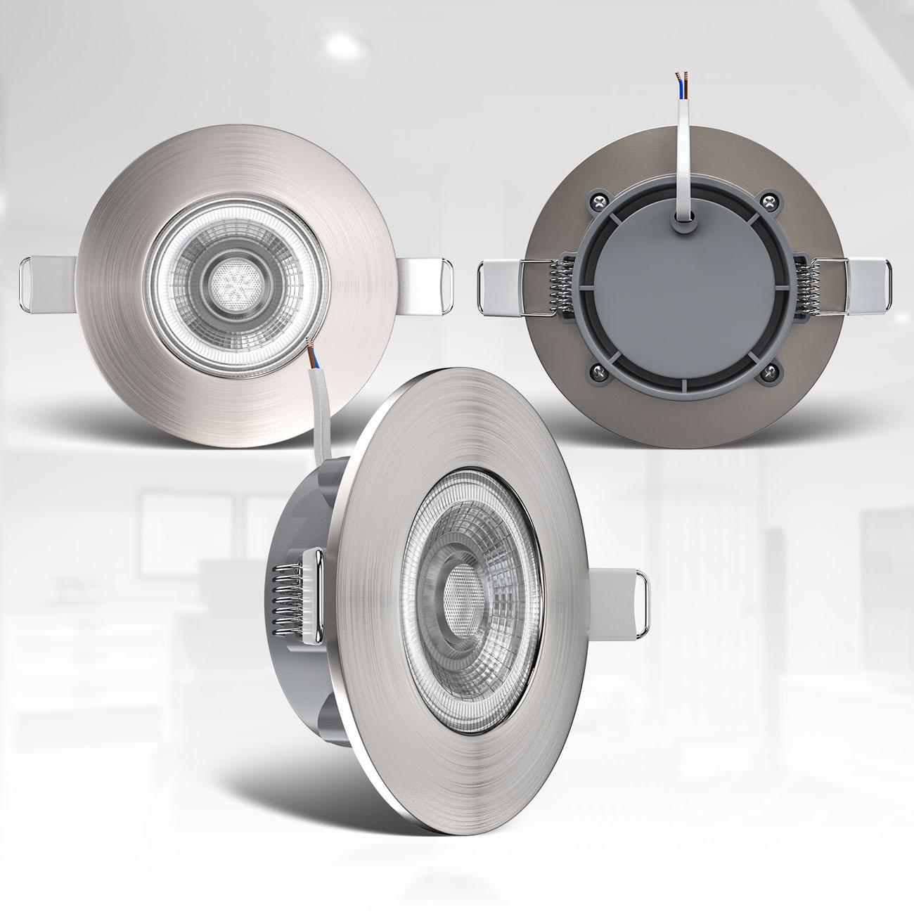 LED Einbaustrahler   Bad Einbauleuchte 6er SET   ultra flach 5W IP44 - 6