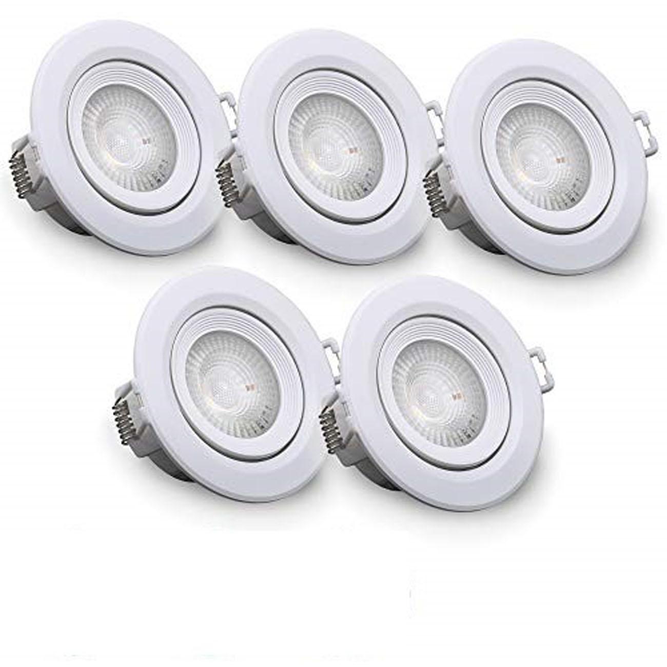 LED Einbaustrahler | Einbauleuchte 5er SET | 4W schwenkbar