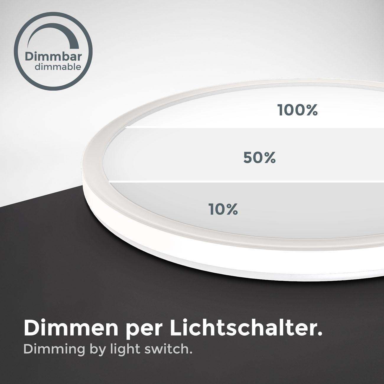 LED Panel mit Backlight-Effekt ultra-flach weiß rund  - 6