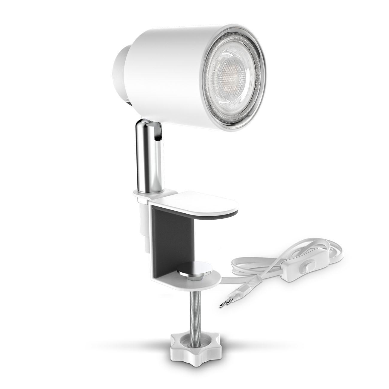 LED Klemmleuchte matt-weiß - 1