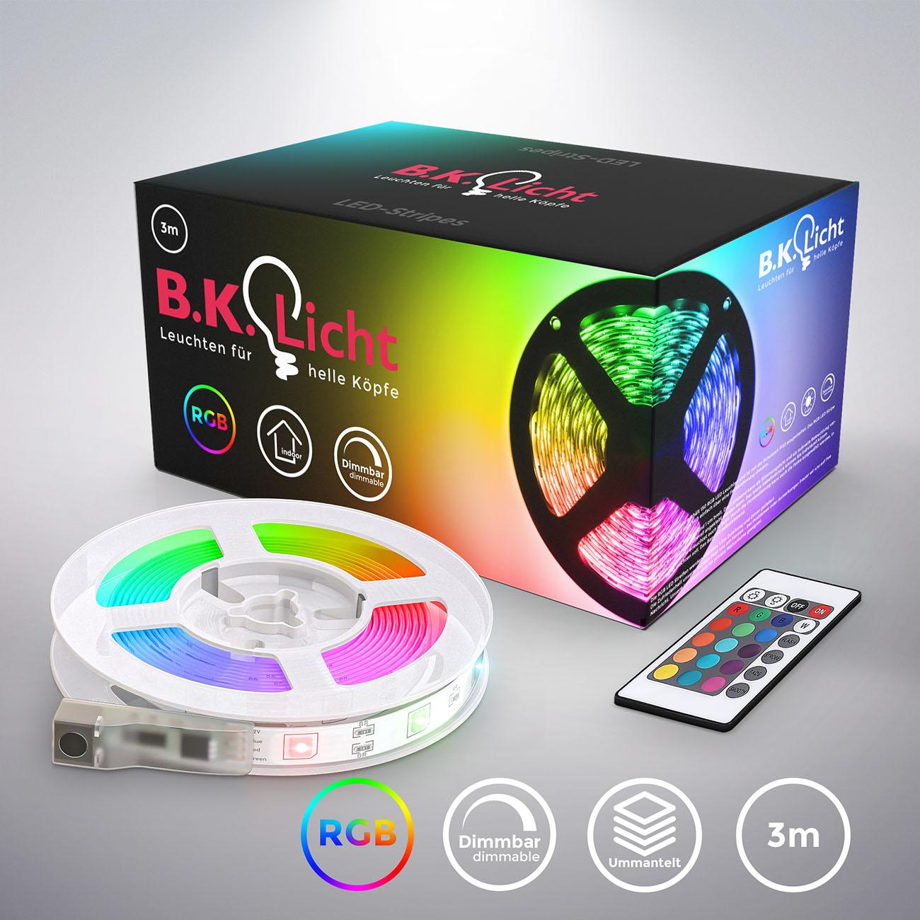 RGB LED Streifen mit Farbwechsel silikonbeschichtet 3m - 3