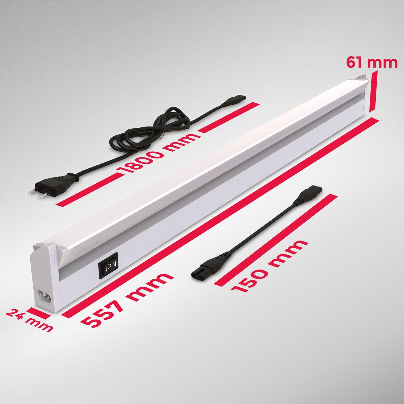 LED CCT Lichtleiste Unterschrankleuchte silber - 7