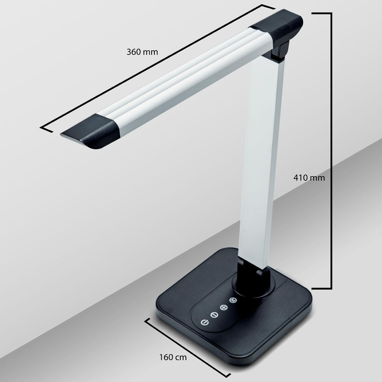 LED Schreibtischleuchte schwenkbar dimmbar schwarz - 8