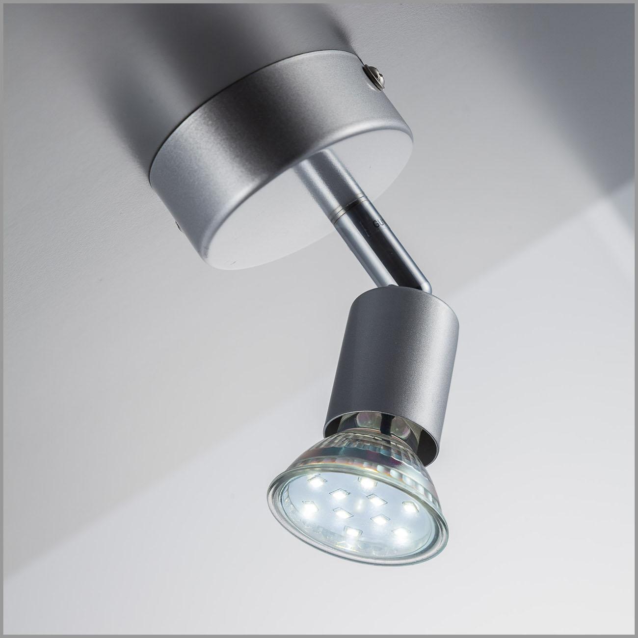 LED Deckenstrahler Deckenspot 1-flammig matt-nickel - 4