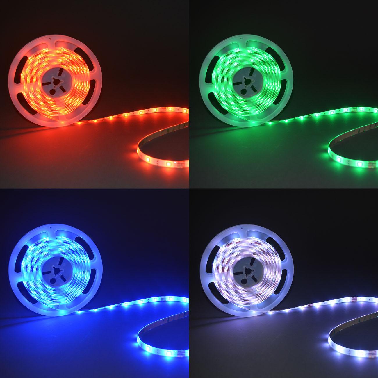 LED RGB Stripe Lichtband IP44  5m - 7