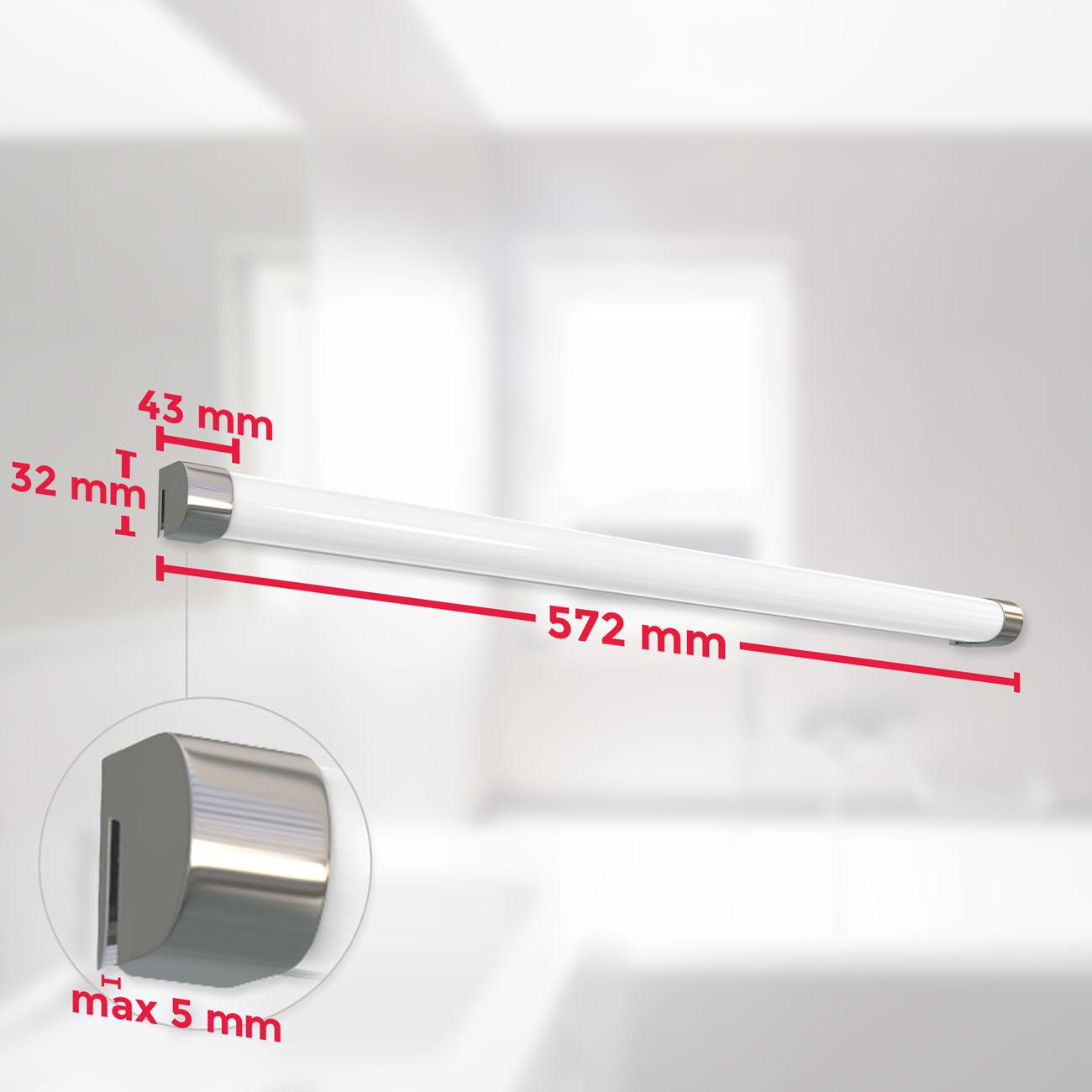 LED Spiegelleuchte Wandleuchte IP44 chrom - 6