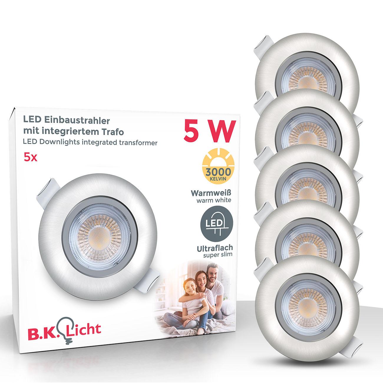LED Einbaustrahler | Einbauleuchte  5er SET | ultra flach 5W schwenkbar