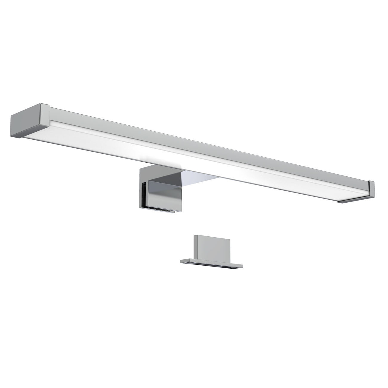 LED Spiegelleuchte Badlampe IP44 chrom