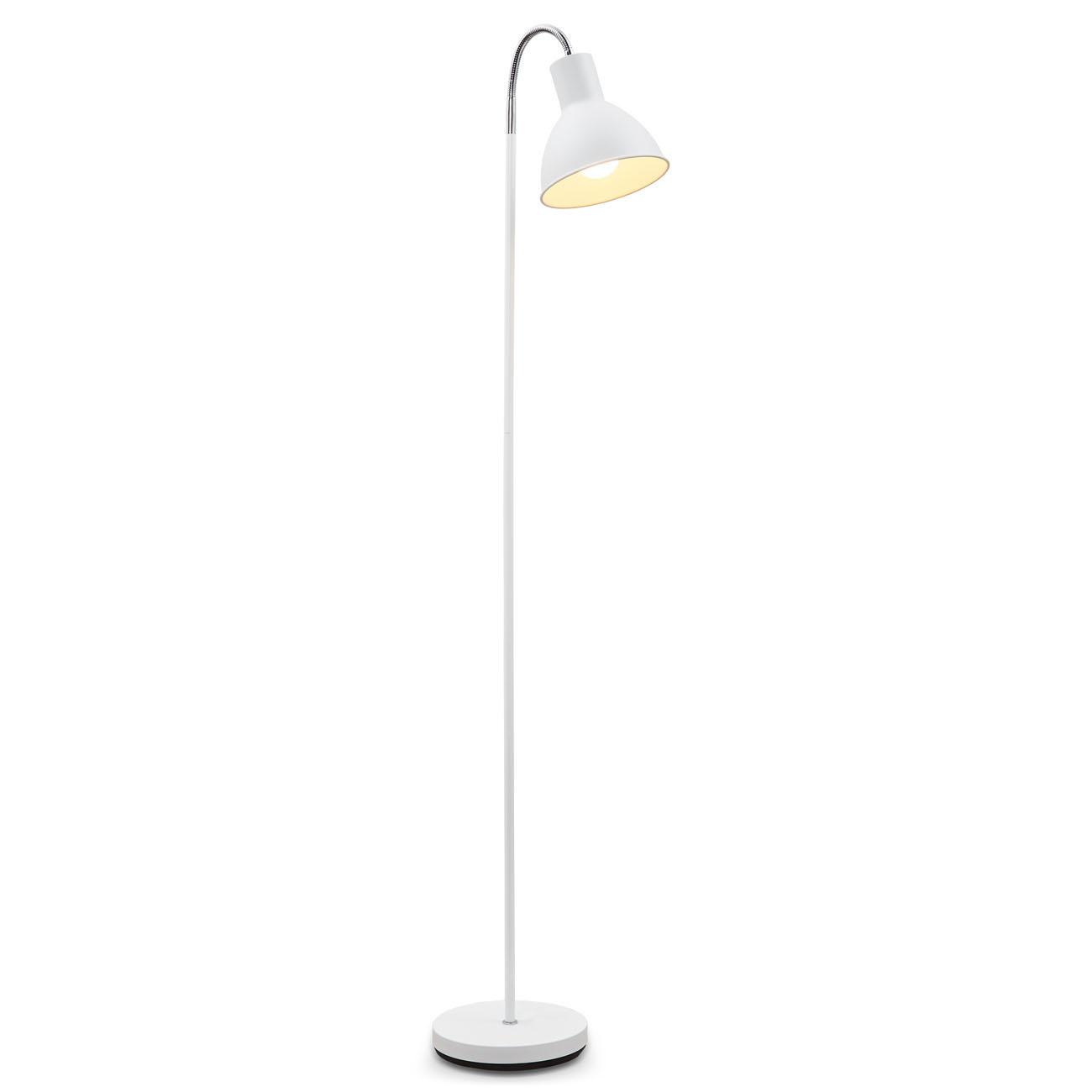Stehlampe Industrial Design schwenkbar weiß E27