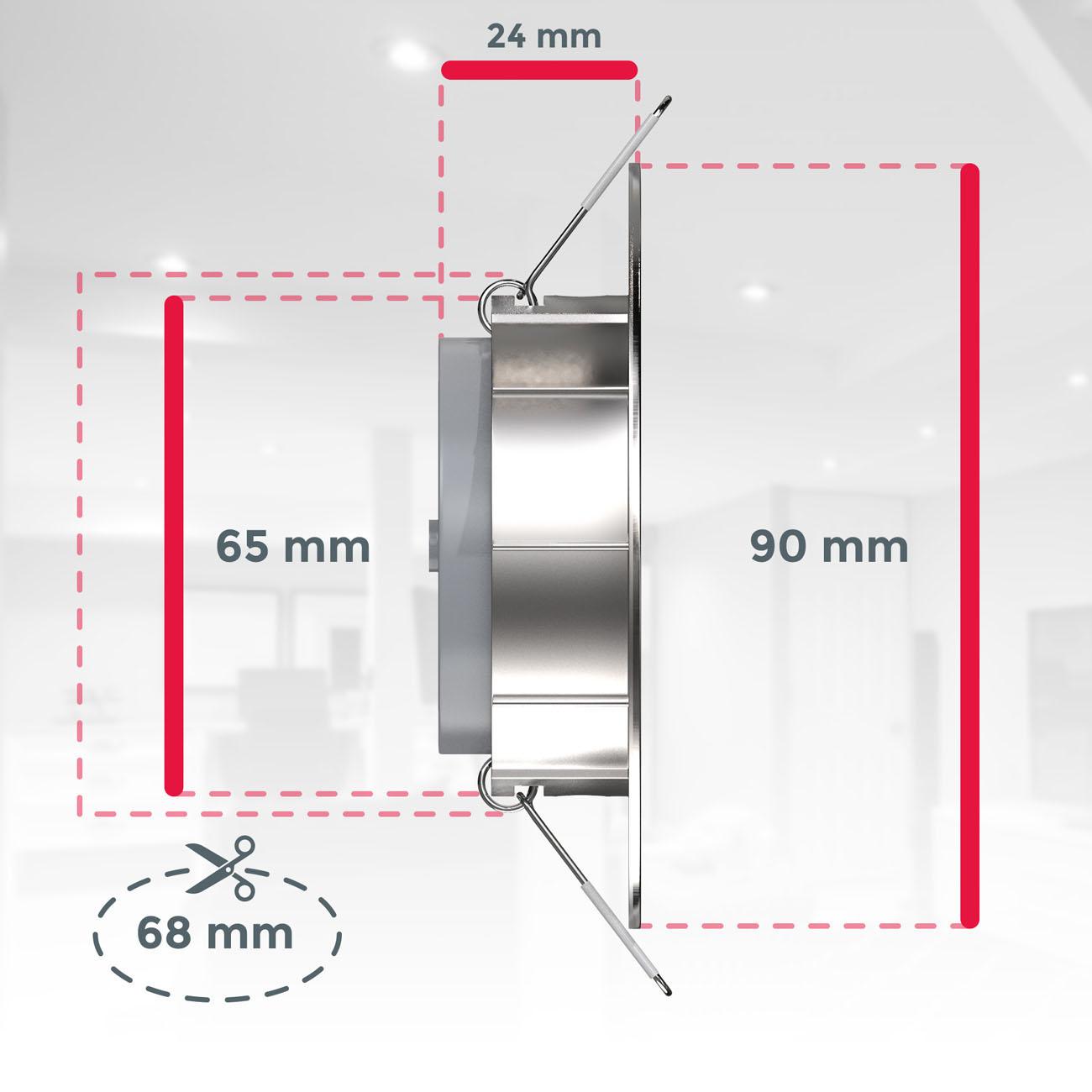 LED Einbaustrahler   Einbauleuchte 6er SET   ultra flach 5W schwenkbar dimmbar - 7