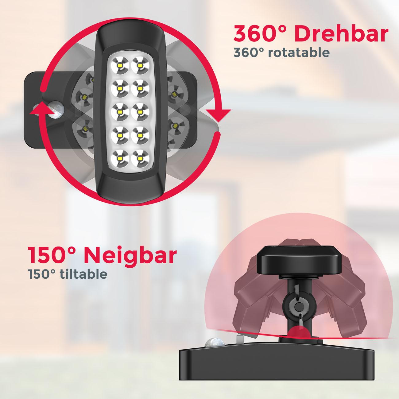 LED Außenleuchte mit Sensor Solar schwarz - 6