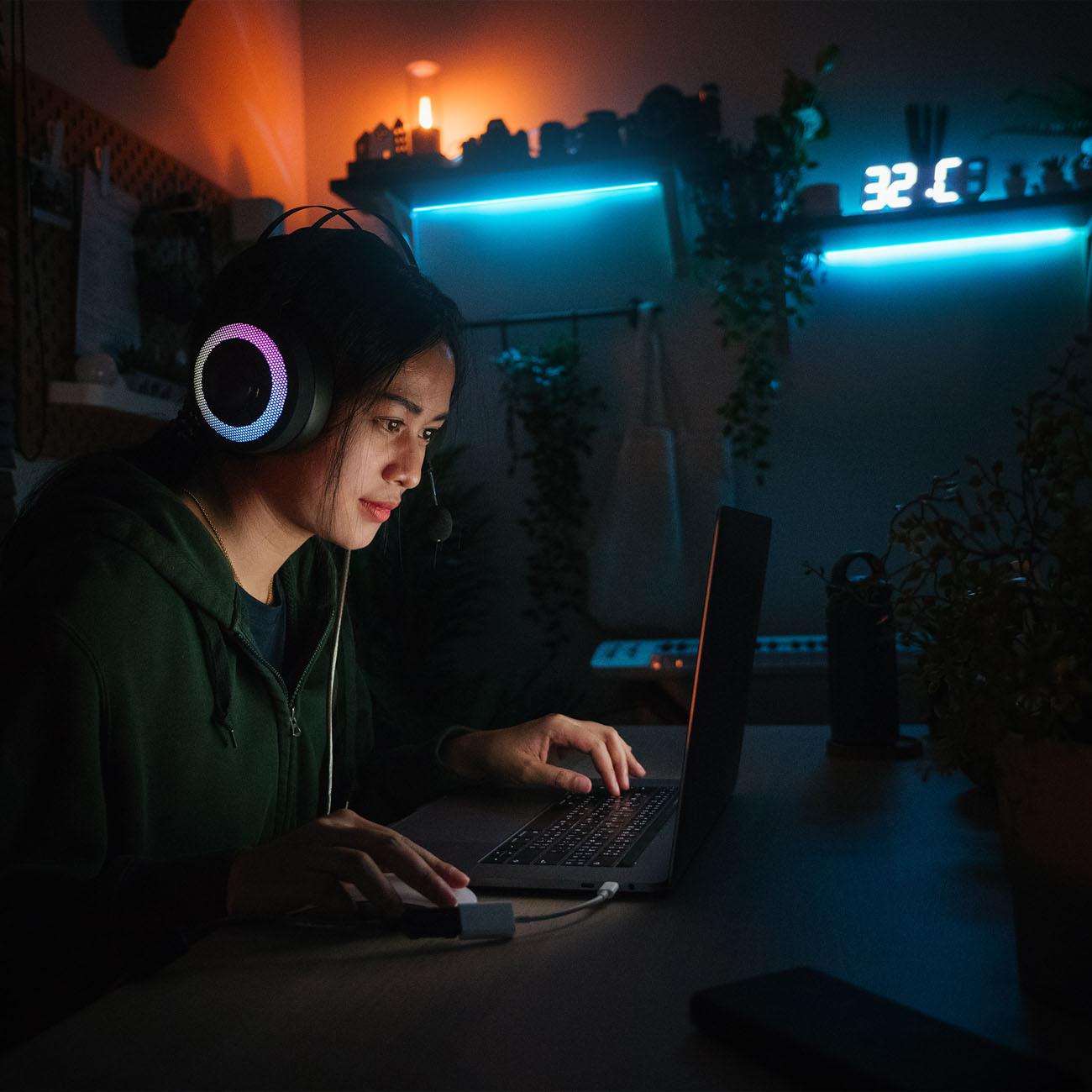 RGB LED Streifen mit Farbwechsel 3m - 2