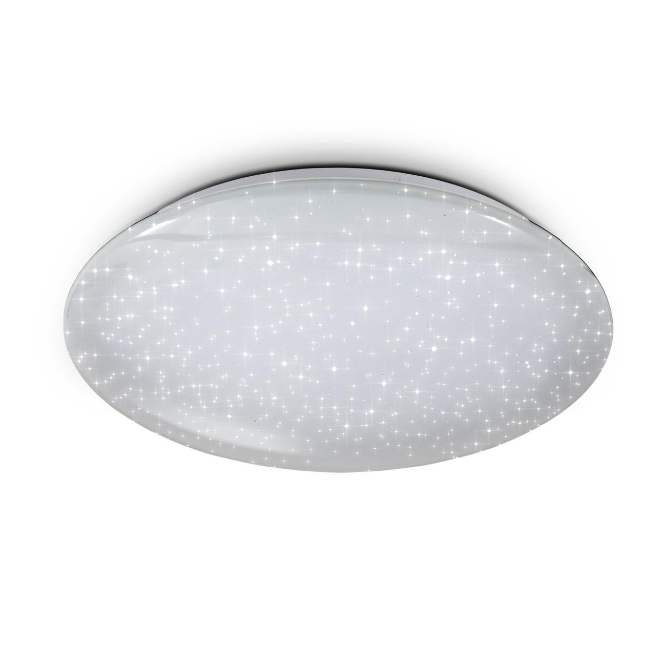 WiFi LED Deckenleuchte mit Sternendekor weiß groß