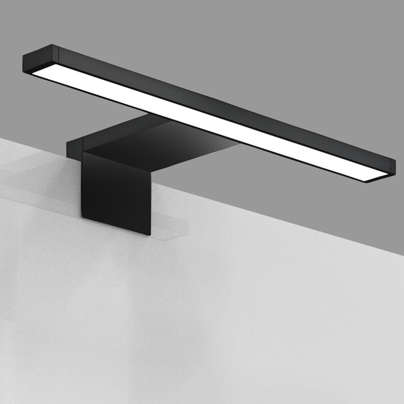 LED Spiegelleuchte Badlampe IP44 neutral-weiß S schwarz - 6
