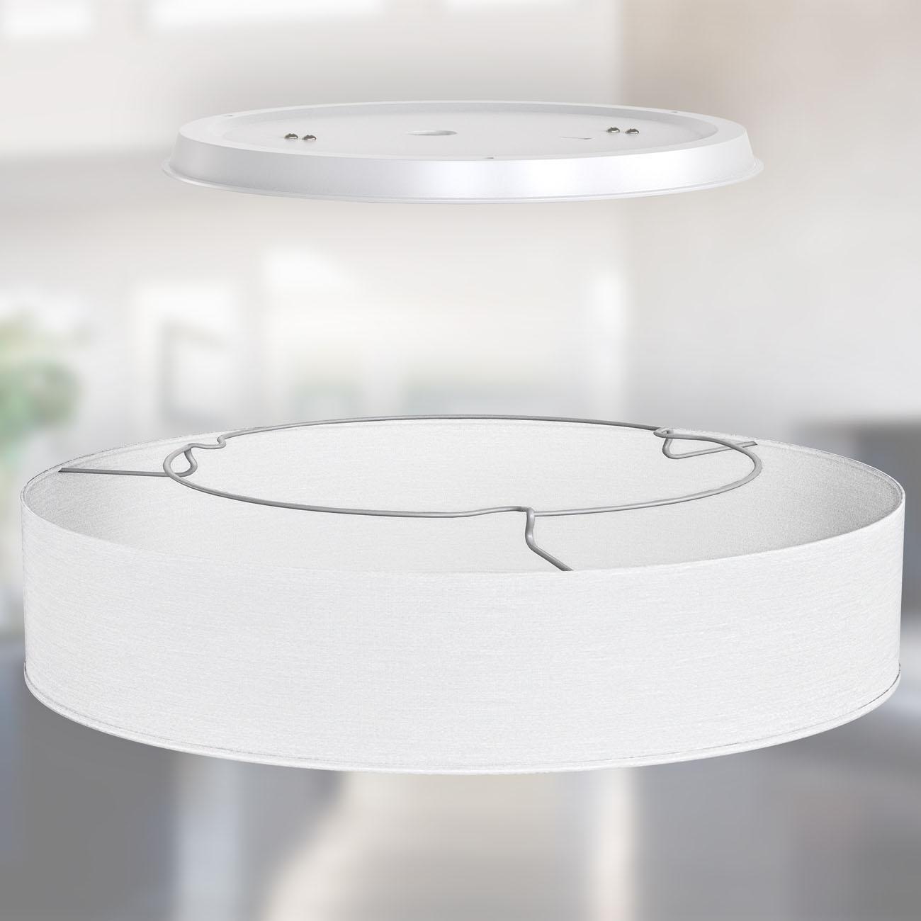 LED  Deckenleuchte mit Stoffschirm weiß - 4