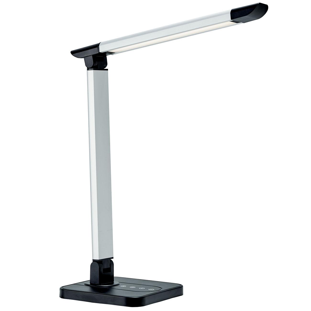 LED Schreibtischleuchte schwenkbar dimmbar schwarz - 1