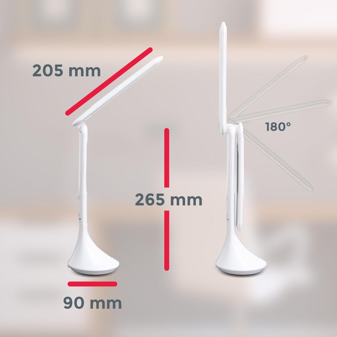 LED Schreibtischleuchte mit Touchfunktion weiß - 7