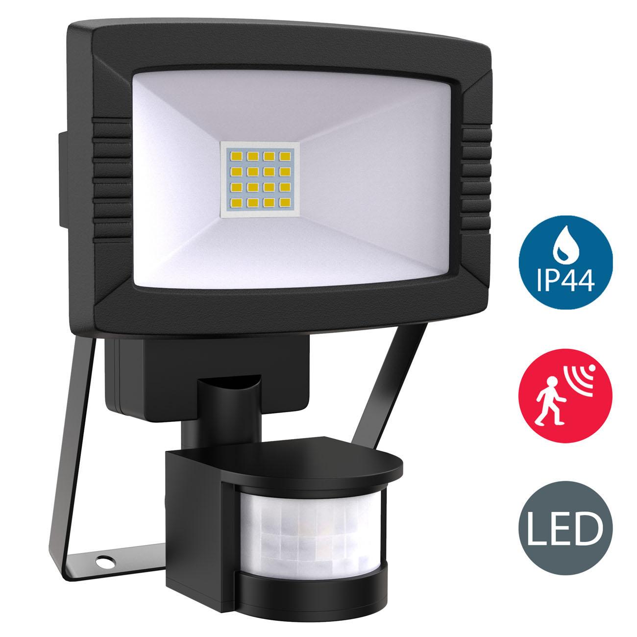 LED Außenstrahler mit Bewegungsmelder IP44 schwarz - 3