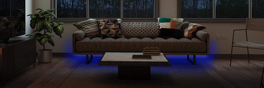LED Bänder und Dekolicht für das Wohnzimmer entdecken