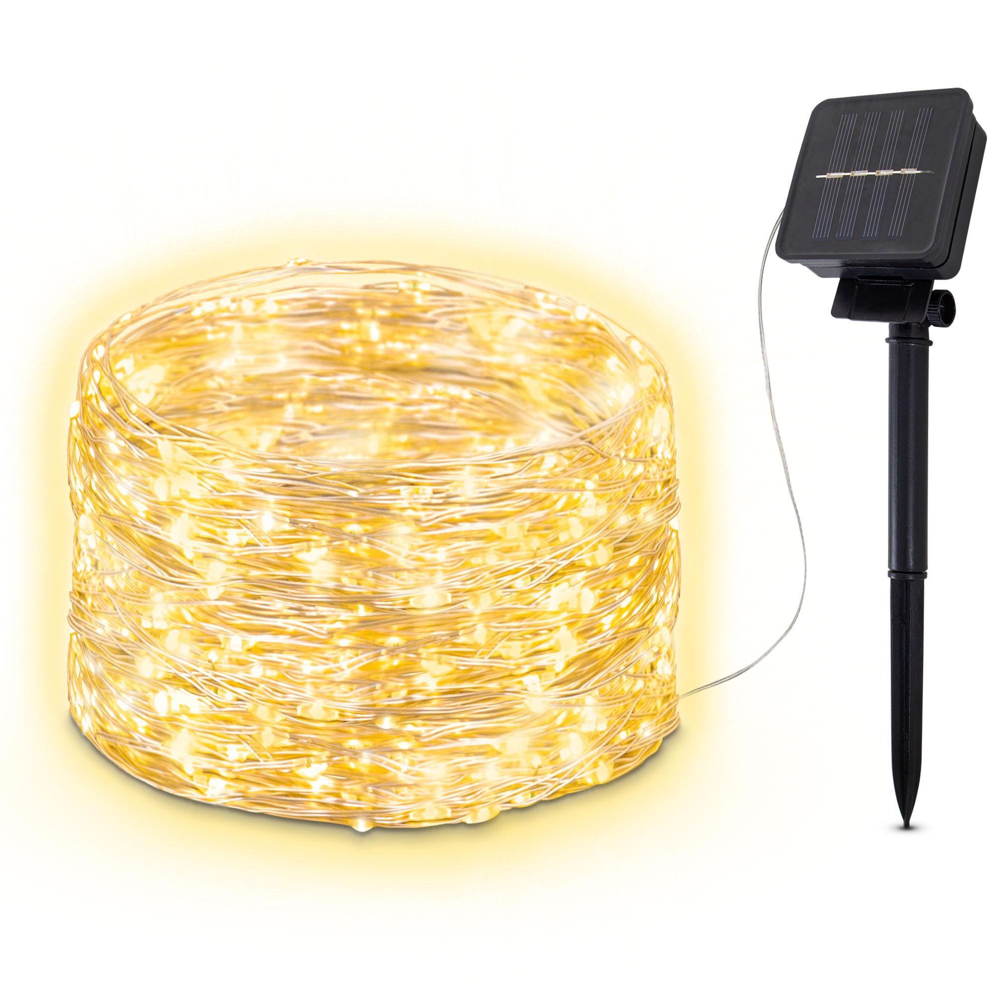 Solar LED Lichterkette für Außen 24m IP44
