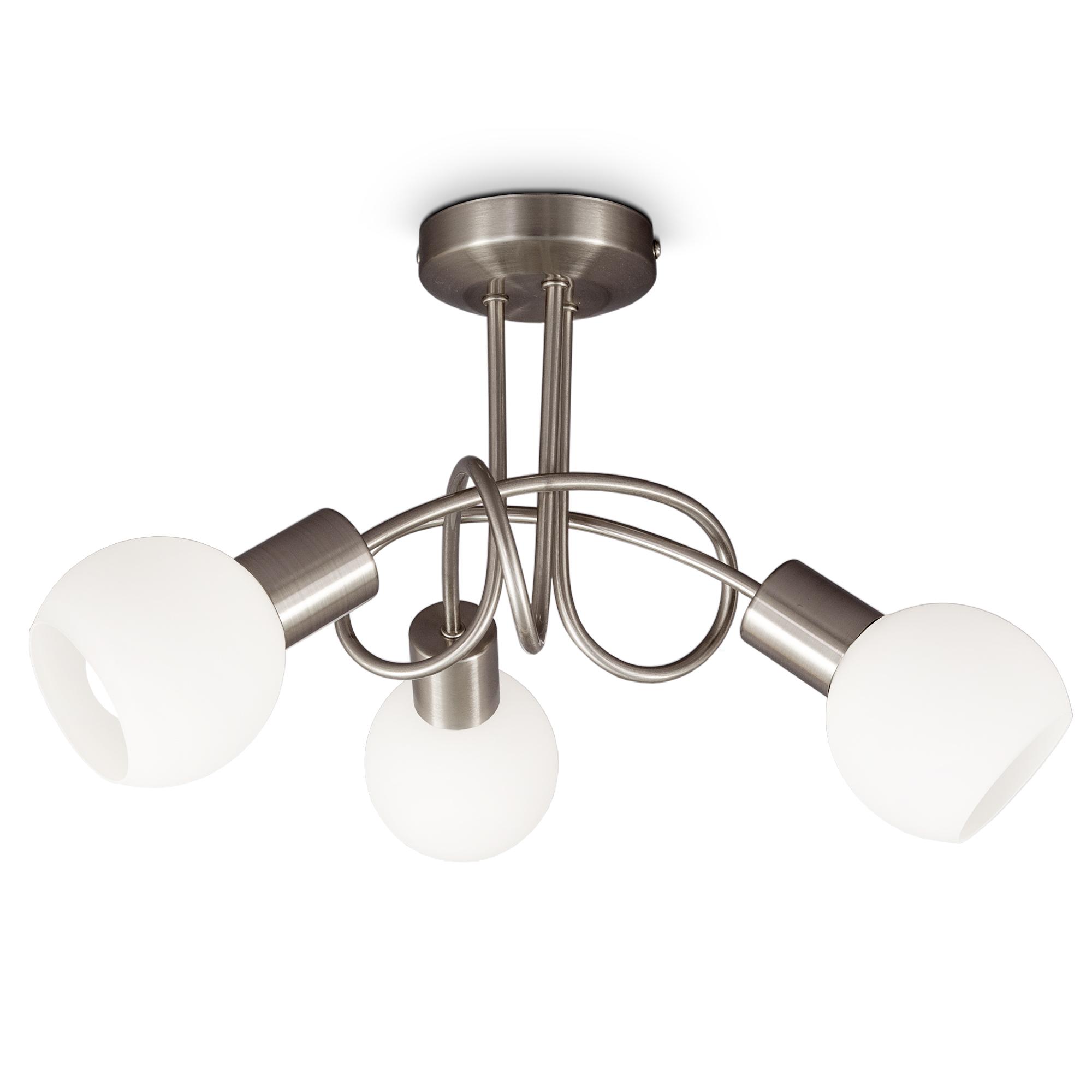 LED Deckenlampe mit Opalglas