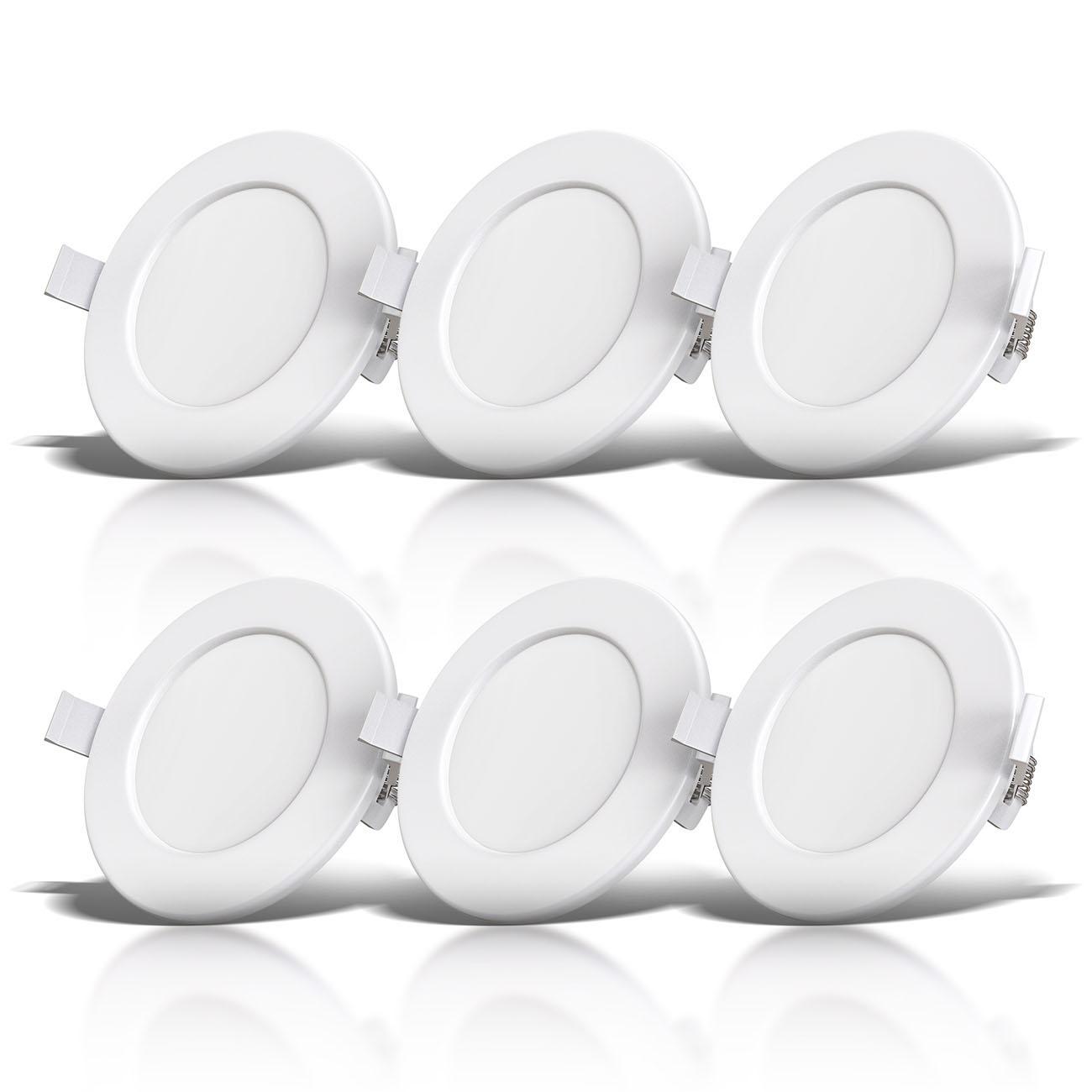 LED Einbaustrahler | Bad Einbauleuchte 6er SET | ultra flach 6W IP44 - 3