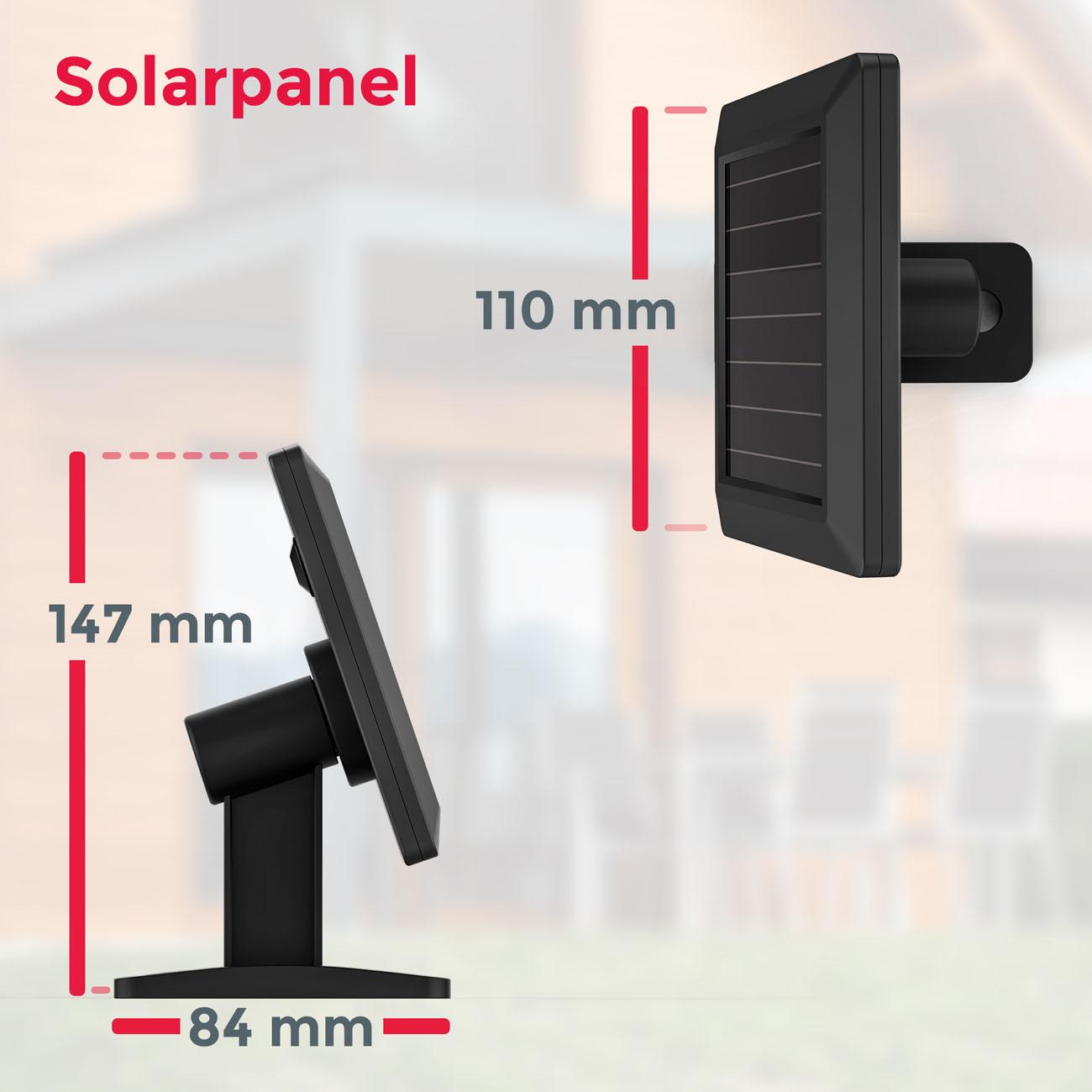 LED Außenleuchte mit Sensor Solar schwarz - 8