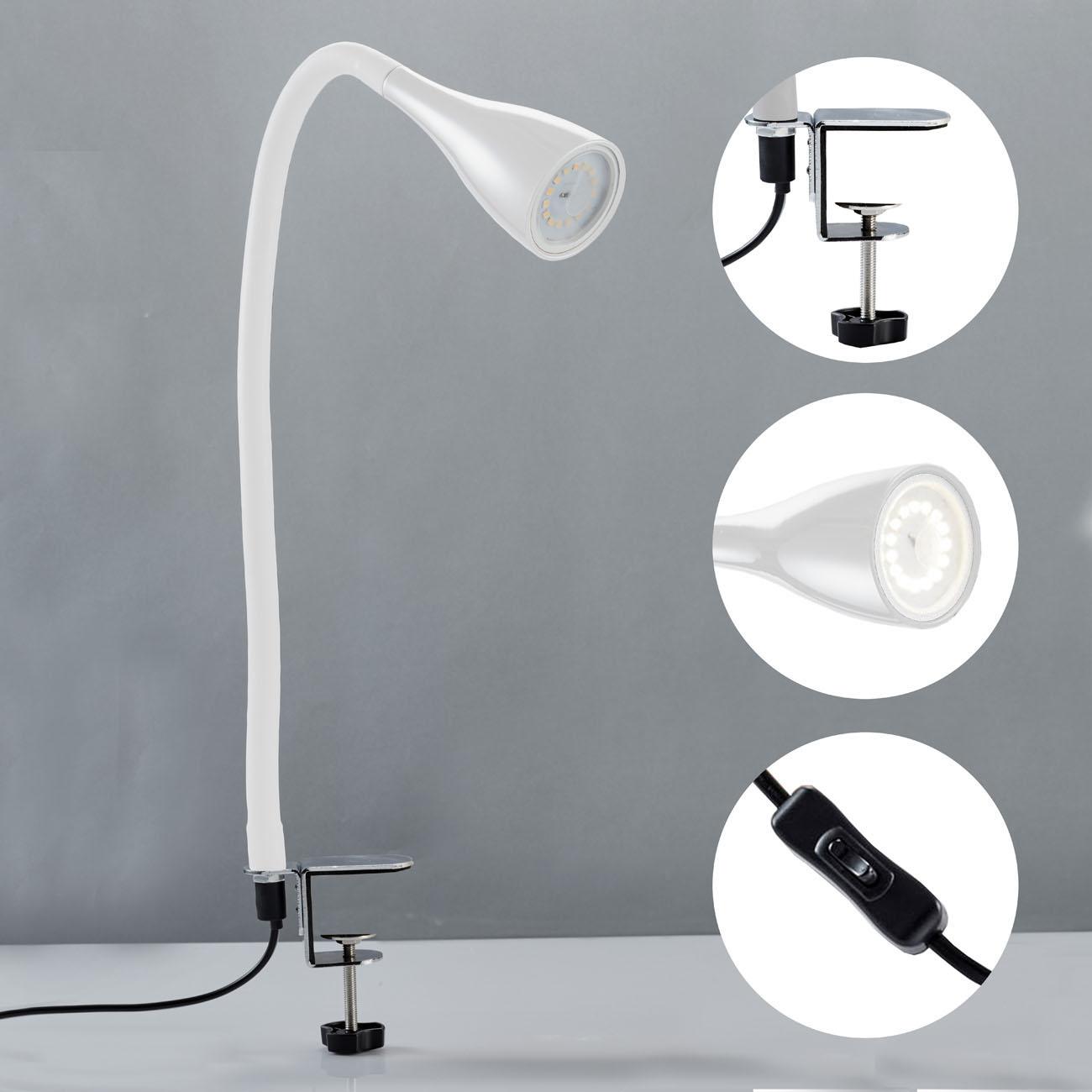 LED Klemmleuchte schwenkbar weiß GU10 - 4