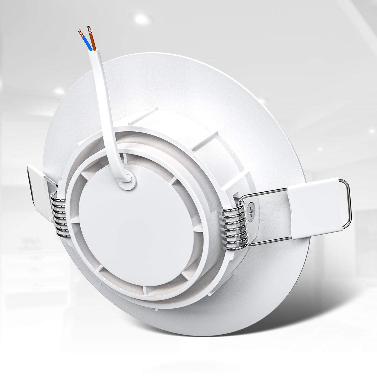LED Einbaustrahler | Einbauleuchte 6er SET | ultra flach 5W schwenkbar weiß - 5