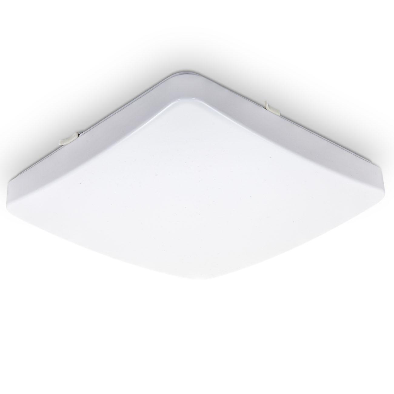 LED Deckenleuchte mit Kunststoffabdeckung warmweiß