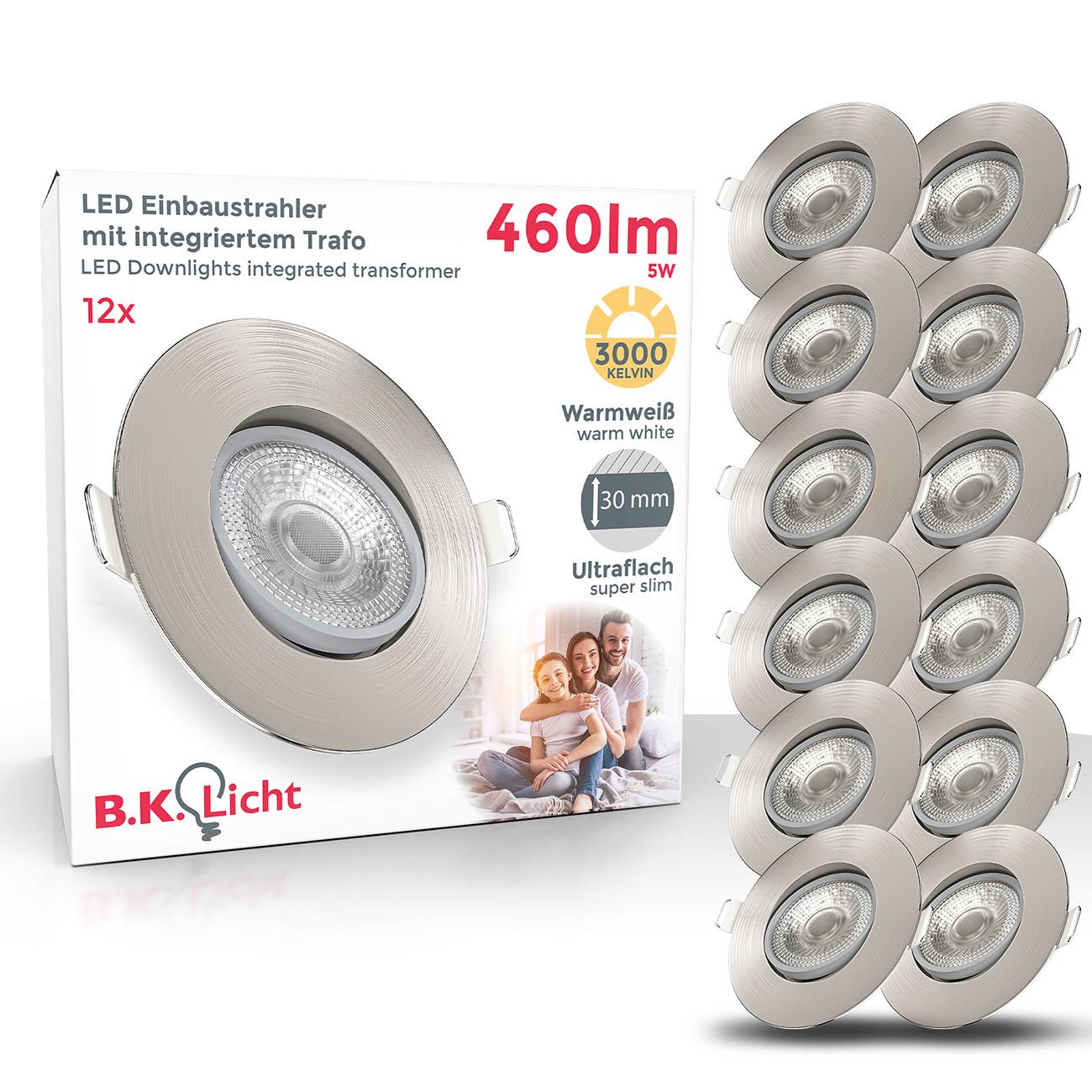 LED Einbaustrahler | Einbauleuchte 12er SET | ultra flach 5W schwenkbar