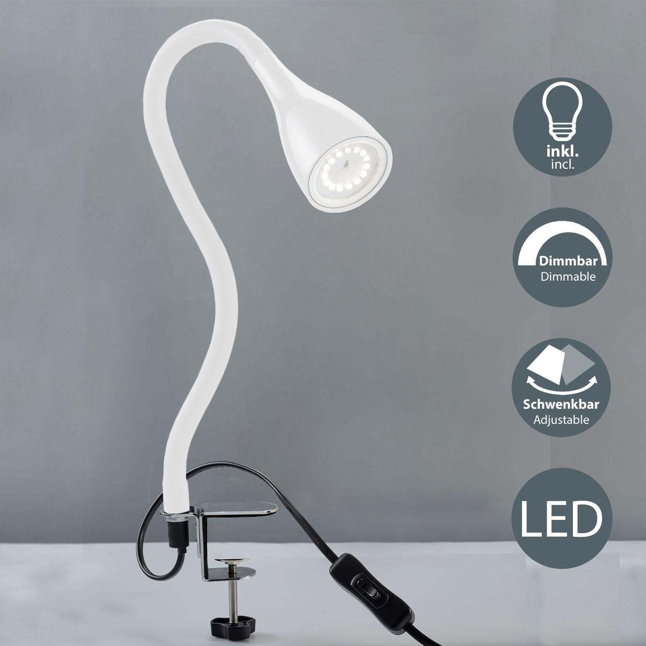 LED Klemmleuchte schwenkbar weiß GU10 - 3